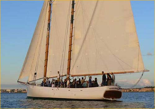 schooner adirondack sailing excursions and harbor tours newport ri