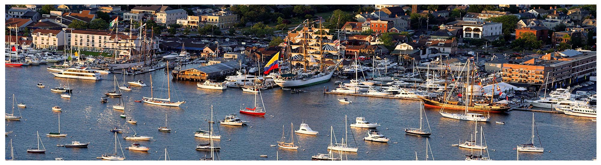 Newport RI boating and sailing information including harbor cruises, dockage and sailboat charters