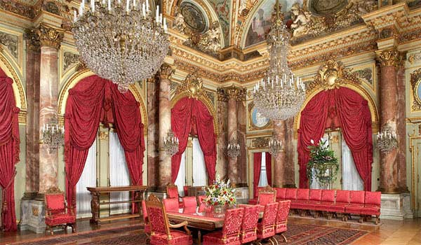 lavish interior of the breakers in newport ri