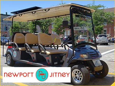 travel around newport the easy way in our open air jitneys