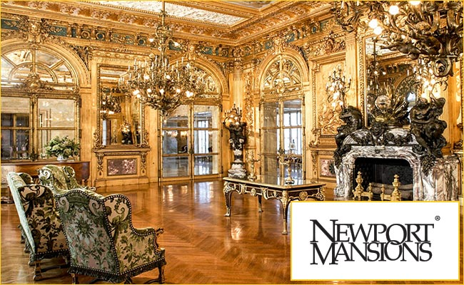 newport's gilded age is reflected in the walls and furnishings of its elegant mansions