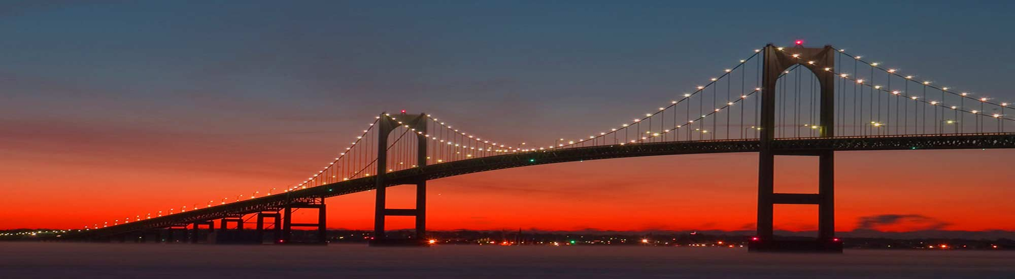 take in amazing views of the newport bridge at sunset