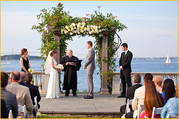 castle hill inn seaside outdoor weddings